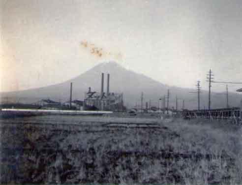 blog③若いころの写真090吉原日産吉原工場と富士山.jpg